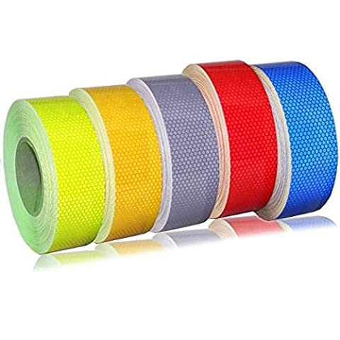 25MM High Quality High Intensity Reflective Tape Vinyl Roll 1M 2M 5M 10M (Silver, 2 Meter)
