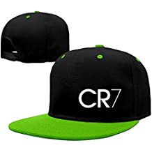 Trithaer Custom Adult CR7 Logo Adjustable Hip Hop Tiene & Cap, Color KellyGreen, tamaño