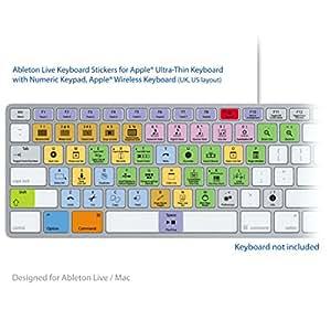 Ableton Live Pro Laptop clé Raccourcis clavier AZERTY français autocollants étiquettes - MAC