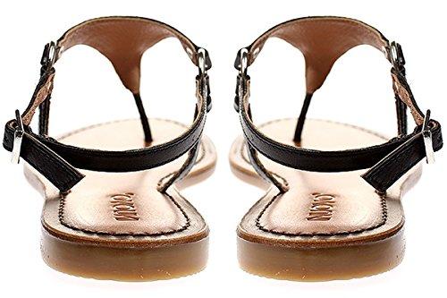 Inuovo 7267 - Damen Sandalette Pantolette Zehentrenner Schwarz