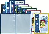 Exacompta - Réf 5790E - Un Protège Document KREACOVER Personnalisable en Polypro Semi-Rigide 5/10ème 24x32 180 Vues Couleur Aléatoire