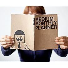 New Blank 13 Month Planner Calendar Book ~Medium