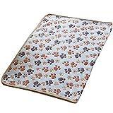 Westeng 1pièce Couverture douce et chaude en Velours pour chien ou chat Pour animal domestique Coussin Tapis Motif pattes 60 x 40 cm