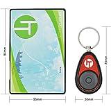Incutex Schlüsselfinder mit Transmitter im Kreditkarten Format, Hilfe zum Aufspüren von Schlüssel, Rot …
