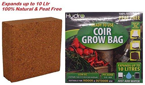 2-x-coir-mixture-potting-soil-grow-bag-100-natural-home-garden-hydro-coco-10-litres