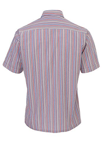 Hatico - Chemise casual - Homme Rayures Rouge