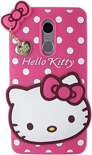 Qzey Girls Choice Hello Kitty Back Cover For Xiaomi Redmi Note 4 - pink