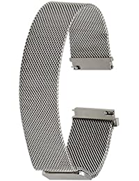 TRUMiRR 22mm Milanese Loop venda de reloj de la correa de la cerradura magnética para Samsung Gear S3 Classic Frontier, Gear 2 R380 R381 R382, Moto 2 360 46mm, Guijarro Tiempo / Acero, Asus ZenWatch 1 2 Los hombres, LG G Reloj urbano W150