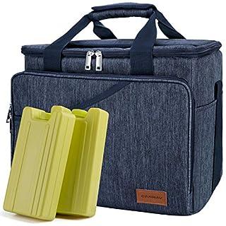 Canway Thermotasche Kühltasche Thermo Tasche Faltbare Isoliertasche Kühlkorb Kühlbox (Blau)