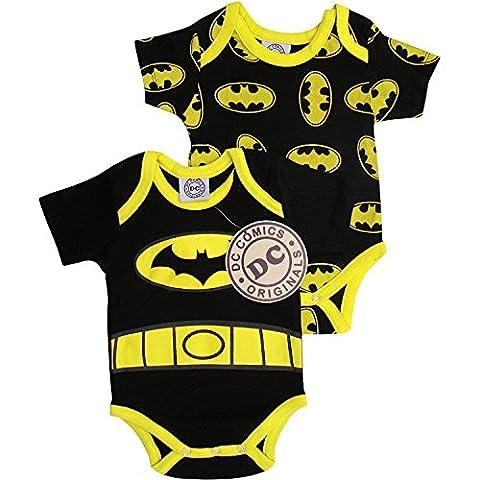 Baby Boy's Batman Romper Sleep Suit (Set of 2) (0-3
