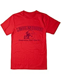 Balcony Shirts 'Middlesbrough - Americans Can't Say It' Mens T Shirt