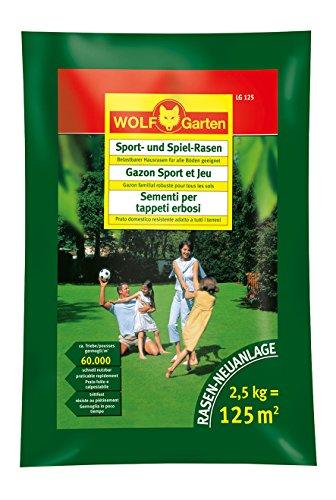 Wolf Rasen Sport- und Spiel-Rasen LG 120 S, mehrfarbig