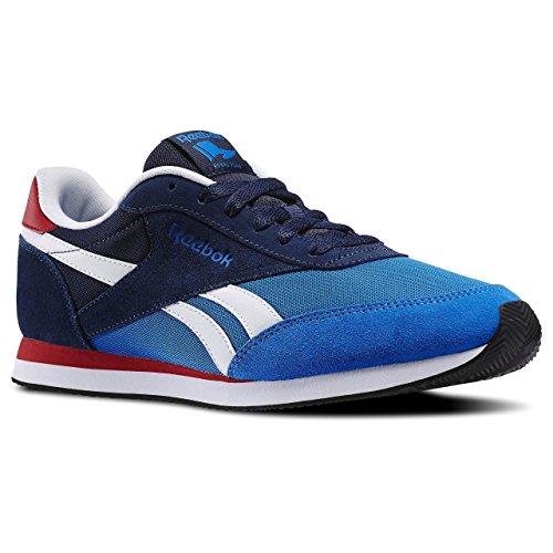 Reebok Royal Cl Jog 2hs, Chaussures de Running Entrainement Homme Bleu / rouge / blanc / noir (bleu sport / bleu marine collégial / rouge flashy / blanc / noir)
