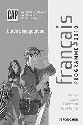 Français CAP Guide pédagogique