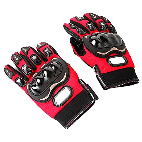New Motocross Off Road Racing Gloves Downhill Dirt Mountain Bike Cycling Glove-Red M