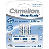 Camelion HR6 Mignon AA AlwaysReady Lot de 2 2500mAh