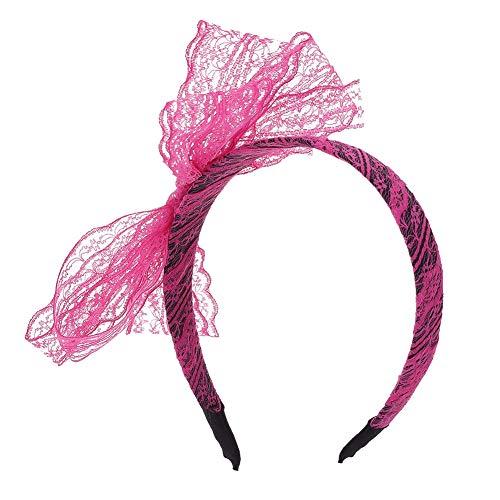 diadema de encaje de los a/ños 80 pendientes de ne/ón sin dedos guantes de red para fiesta de los 80 Auidy/_6TXD 80s accesorios de disfraz para mujeres