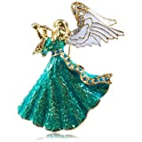 Amazing Gift for Xmas Retro Green Blue Angel Christmas Brooch Pin Gift BR158