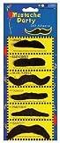 Moustache Movember x 6 Noir Moustaches Assorti Déguisement Accessoires