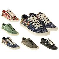 Ladies Rocket Dog Flat Textile Pumps Trainers Style Laced Shoes Size 3 4 5 6 7 8
