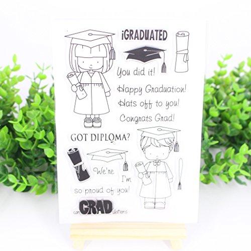 (Bduco Transparente Stempelbögen Transparente Silikondichtung für DIY Scrapbooking Karten machen Fotoalbum Deko (Studenten))