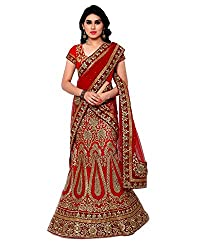 Naaidaakho Silk Lehenga Choli (16_SW_302_Red_Free Size )