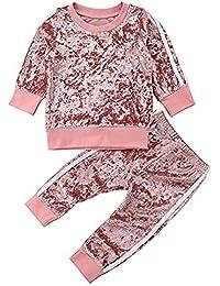 031396ce85909 Carolilly 2 Pcs Ensemble de Sport Vêtement Enfant Bébé Garçon Fille ...