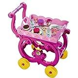 Smoby - 024271 - Disney Princess - Desserte XL - Plateau Amovible avec Chariot - + 16 Accessoires Inclus