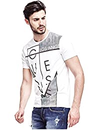 Tee-shirt Guess Straight Out Blanc