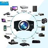 Video Beamer, Artlii Heimkino Mini Projektor HD Handy 1600 Lumen LCD Garten Party Unterstützung 1080P für TV PC Laptop Kopfhörer iPhone Macbook iPad Filme Ps4 Video Spiele - 3