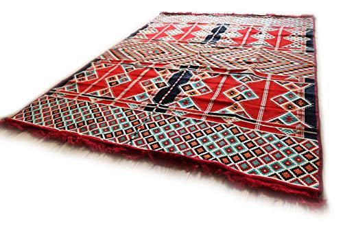 200?X 135?cm tapis kilim Oriental, Kilim, Carpet, fond Tapis de sol, Rug neuf en damas Unst S 1427
