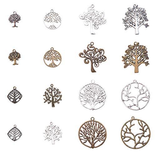 Healifty lega albero della vita fascino stile tibetano per diy fare collana 64pz