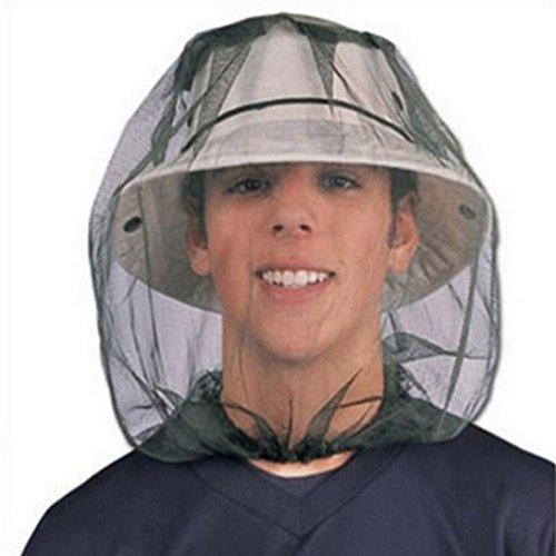HCFKJ Moskito Kopf Net Mesh Gesicht Schutzkappe Insekt Biene Sonne Fisch Hut (Gesichts-ausrüstung)