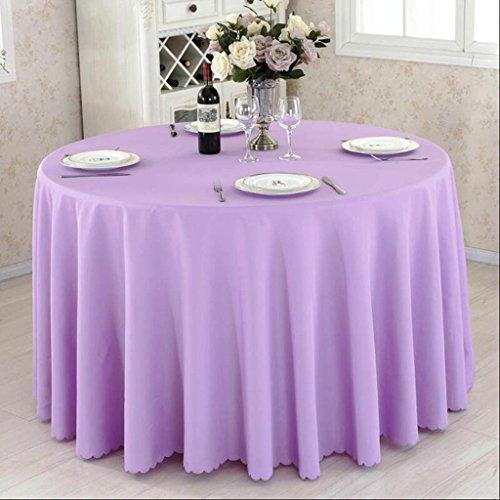 HHCQY Hotel Restaurant Konferenztischdecke Rosa Beige Weißweinrot Solide Tischdecke Runder Tisch Couchtisch Picknickdecke 320CM (Farbe : Helles Lila, größe : 320CM)
