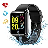 Mpow Smartwatch Wasserdicht IP68 Smart Watch Uhr mit Pulsmesser Fitness Watch Bluetooth Smartwatch Fitness Tracker Intelligente Armbanduhr mit Schrittzähler Schlaf-Monitor Call SMS für Android iOS