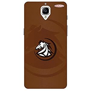 Horse Brown Design - Mobile Back Case Cover For One Plus 3