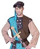 Kostüm Highländer Duncan Größe 56/58 Herren Schotte Schottenmuster Schottenrock Komplettkostüm Schottland Karneval Fasching Pierros