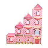 imaxxtool Kinderregal Kleiderschrank Spielzeugkiste Wäscheschrank DIY Steckregal Regalschrank Rosa 10 Raster 430L
