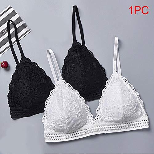 XFDDFC Mode Mädchen Drahtlose Weiches Triangel-Cup-Art-Spitze Nahtlose Frauen-Wäsche Dünne Bralette Tiefer V-BH Unterwäsche Weinrot - 4