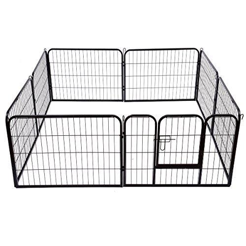 Outsunny PawHut Recinto per Cani Gatti Cuccioli Roditori Recinzione Rete Gabbia 80x60cm 8pz