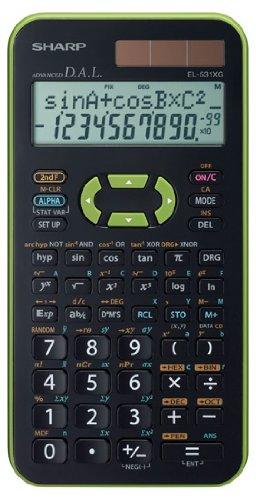 EL-531 XG-GR, wissenschaftlicher Schulrechner, 2-zeilig, Farbe grün, SEK I&II, 272 Funktionen, TWIN-Power