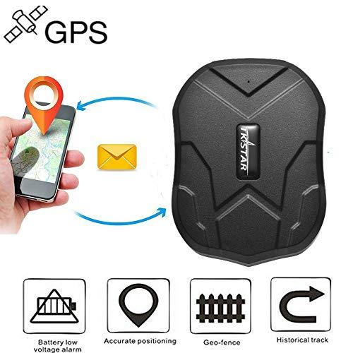 Winnes GPS Tracker Wasserdicht 90 Tage Lange Standby Magnet Tracker Geräte Mini GSM GPRS SMS GPS Locator Global Echtzeit - Tracking für Auto Motorrad Fahrrad Truck Scooter Kostenlose App/Web TK905