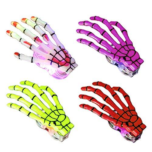 LED Frauen Skeleton Hand Knochen Haarnadel Haarspange Barrette für Halloween Dekoration Zubehör Verschiedene Farbe (Halloween Skeleton Clip Art)