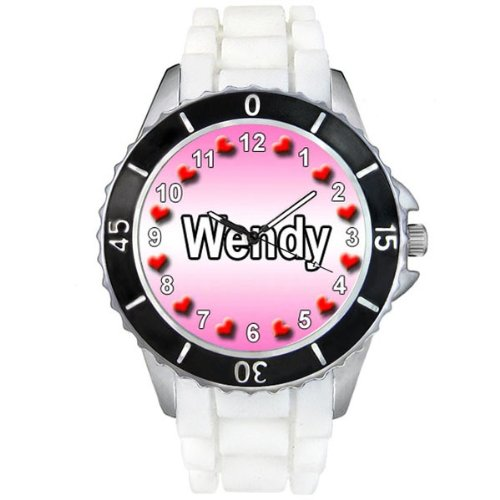 name-wendy-white-jelly-silicone-band-ladies-sports-wrist-watch