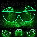 Xuba LED Blinkende EL Leuchtbrille Party Deko Beleuchtung Klassische Geschenk helle Requisite Party...