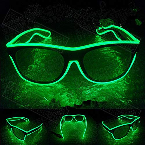 Dekorative Fluoreszierende Leuchten (LED blinkt EL leuchtende Gläser Party dekorative Beleuchtung Klassische Geschenk helle Prop leuchten Party Gläser Party Decor)