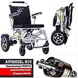 AIRWHEEL H3s Elektrorollstuhl leicht, faltbar, 33Kg, Motorleistung: 200Wx2. Elektro Rollstuhl mit Motor zusammenklappbar