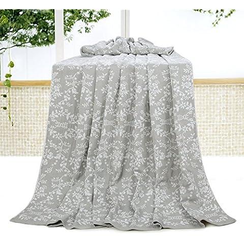 BDUK Puro cotone e asciugamani Biancheria Letto Matrimoniale Estate pisolino pomeridiano condizionamento aria garza coperta neonato per bambini coperta