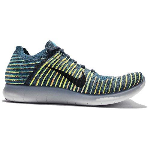 Nike Herren Free Rn Flyknit Hallenschuhe Mehrfarbig
