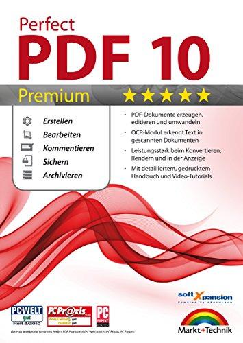 Perfect PDF 10 PREMIUM inkl. OCR Modul PDFs Erstellen, Bearbeiten, Umwandeln, Sichern, Kommentare hinzufügen, Formulare ausfüllen | 100{8d5d23691ea40661e28cad674041ef60923197d21a343fb3970082887121f46c} Kompatibel mit Adobe Acrobat